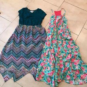 2 Girls maxi dresses Sz 10/12